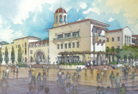Architect's rendering of Aztec Student Union