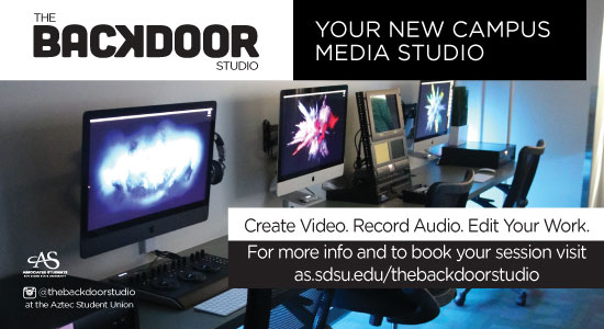BACKDOOR STUDIO Your new campus media studio. see link