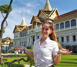 photo of a student in Thailand