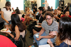 Students at the International Cofee Hour