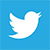 twitter logo - white bird on blue