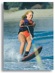 Photo: girl on waterski