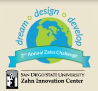 Image: second annual Zahn Challenge logo: Dream, Design, Develop