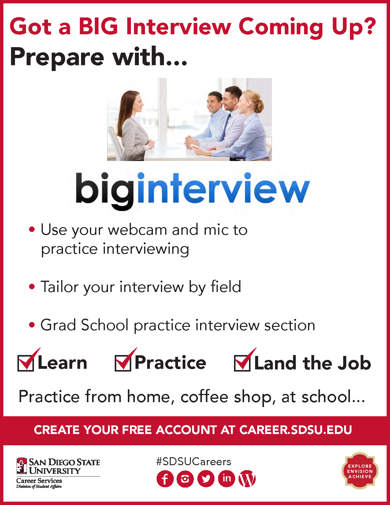 career services sdsu big interview