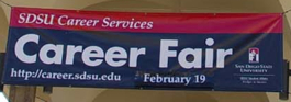 Photo: SDSU Career Services Career Fair sign