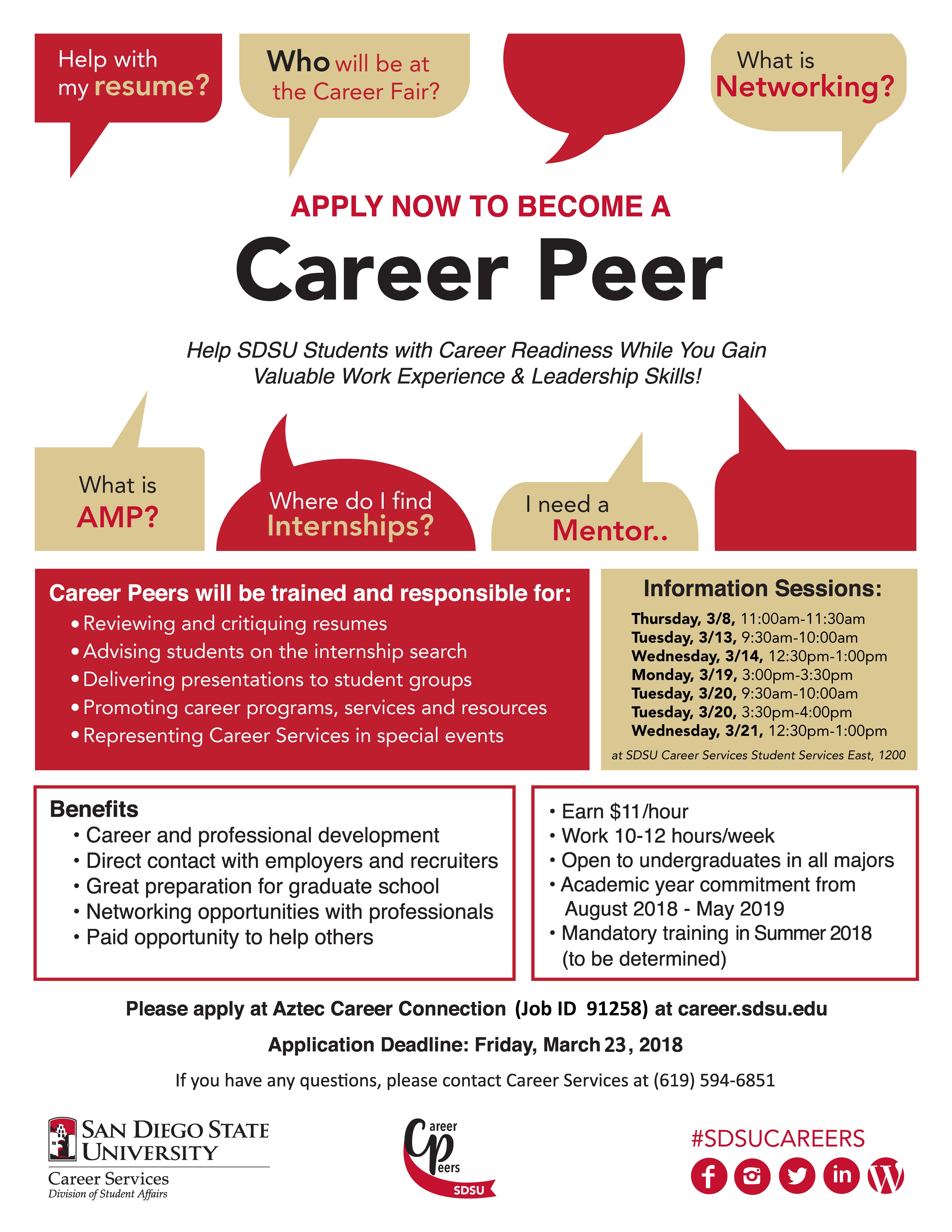 Career services sdsu career peer recruiting falaconquin