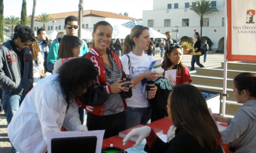 Photo: SDSU students