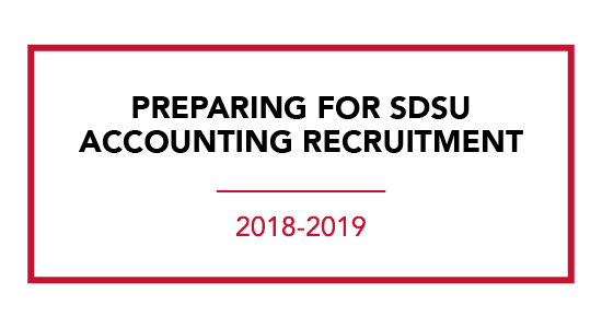 SDSU Accounting Recruitment preparation