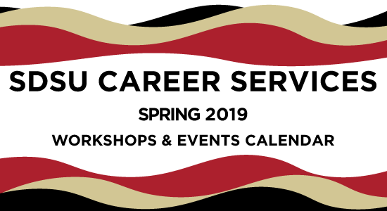 SDSU Career Services Spring 2019 Events listing