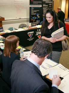 Photo: student with employers