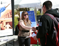 Photo: Employer and student at career event
