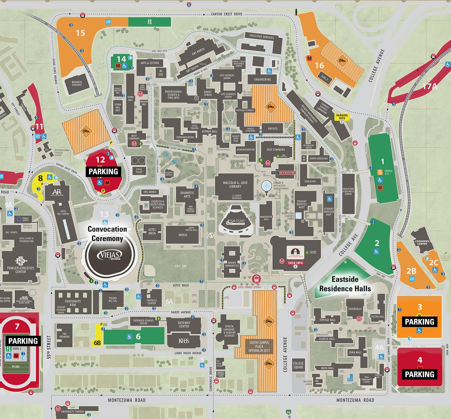 directions to new student and family convocation sdsu