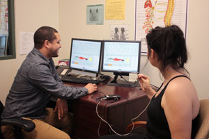 photo: biofeedback session