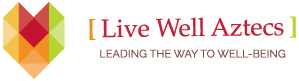 logo: Live Well Aztecs - Leading the Way to Well-Being