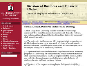 preview of the Compliance Office website