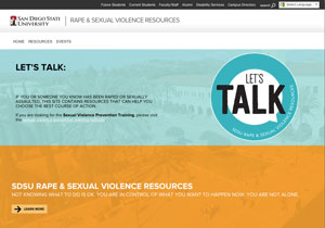 preview of the Let's Talk website