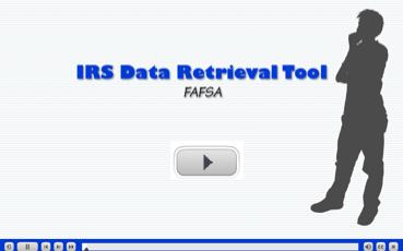Image: IRS Data Retrieval tool - FAFSA