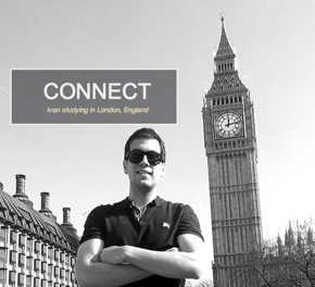 Photo: SDSU student Ivan studying in London, England