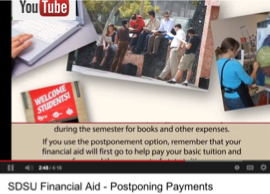 Image: YouTube video about postponing payment
