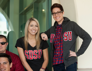 Photo: group of SDSU students