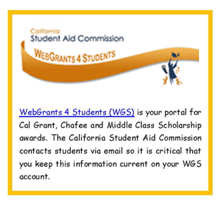 CSAC WebGrants for Students