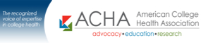 LOGO: American College Health Association: Advocacy, Education, Research
