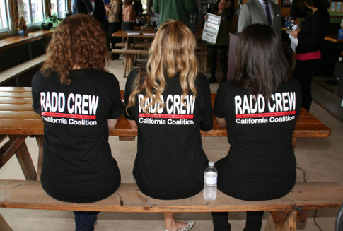 Photo: 3 students in RADD tshirts