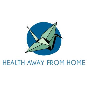 health away from home logo - origami bird