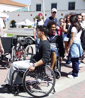 Photo: students in wheelchairs