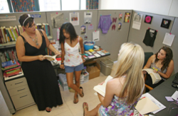 Photo: group of women in SDSU womens resource center