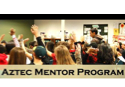 Aztec Mentor Program words and photo of students