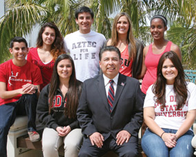 Photo: Eric Rivera and students