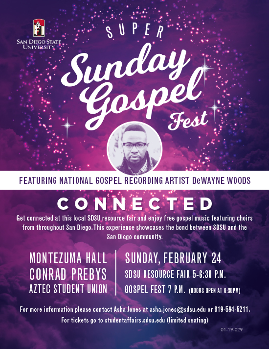 super gospel fest feb 4 Montezuma hall details below
