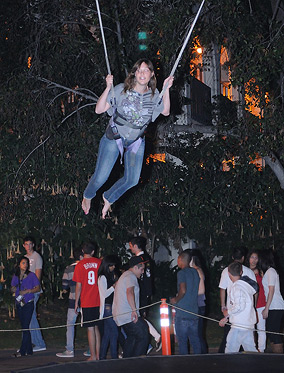 Photo: student enjoys aerial activities