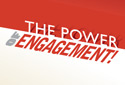 photo of red/white cover that says power of engagement