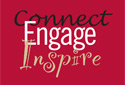 red cover that reads connect engage inspire