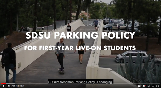 SDSU's Freshmen parking policy is changing.