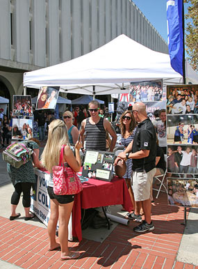 photo: student organization booth