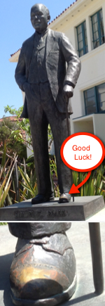 Photo: President Black's Statue