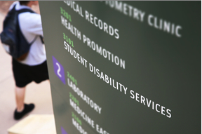 Photo: Student Disability Services sign