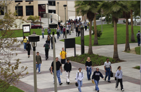 Photo: Students walking on campus