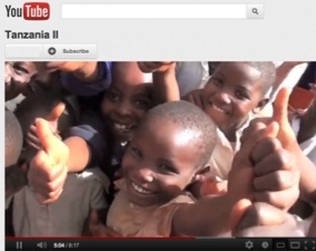 Photo: Tanzanian children on YouTube video