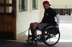 Photo: tudent in wheelchair
