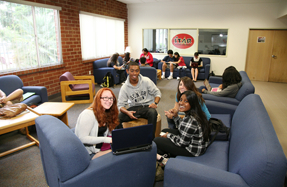 Photo: Students in residential living space