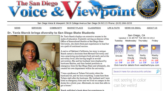 San Diego Voice & Viewpoint homepage