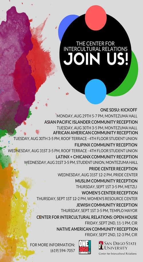 community receptions Join us!