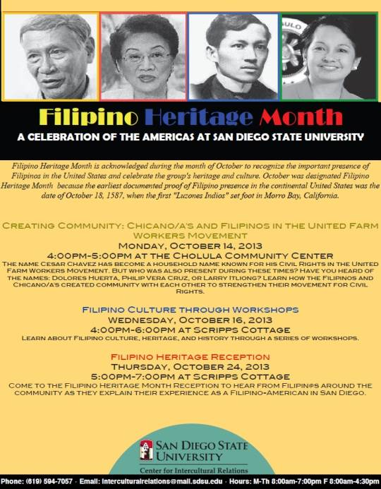 filipino Heritatge Month A celebration of the Americas at San Diego State University