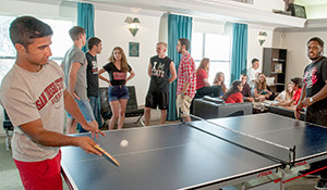 Image: students at ISC playing ping pong