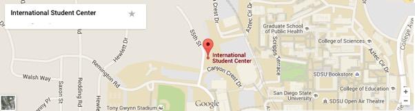 Graphic International Student Center Location At Sdsu