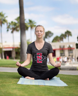 photo: student meditating